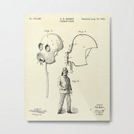 Fireman's Mask-1889 Metal Print