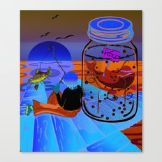Fish Tales Canvas Print