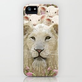 Lambs led by a lion iPhone Case