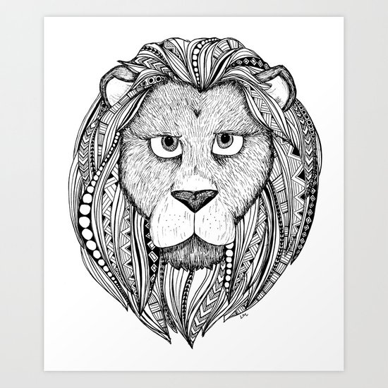 Lion - black and white by lauramax