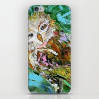 hedwig iPhone & iPod Skins featuring Hedwig by Karen Tarlton