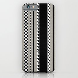 Faux knit cloth grey iPhone Case