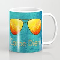 carpe diem Mugs featuring Carpe Diem by Leah M. Gunther Photography & Design