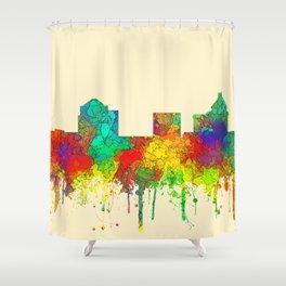 Greenboro North Carolina Skyline - SG Shower Curtain
