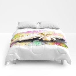 Watercolor Pelicans Comforters