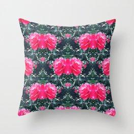 Rose Bonanza Botanical Throw Pillow