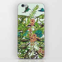 green iPhone & iPod Skins featuring Daydreamer by Huebucket