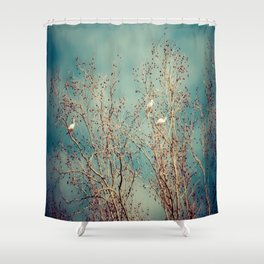The Flock  Shower Curtain