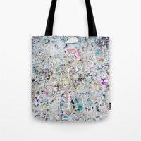 posters Tote Bags featuring Old posters by katti