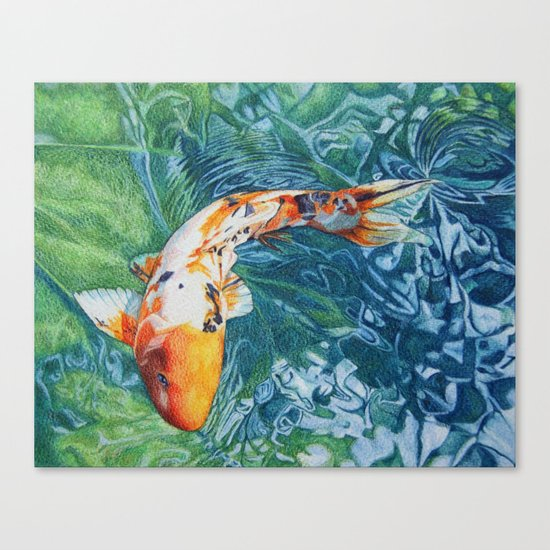 Koi carp canvas print by abby hope skinner society6 for Koi canvas print
