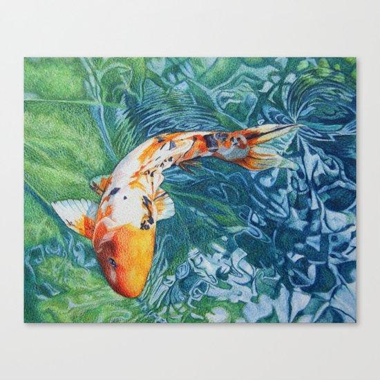 Koi carp canvas print by abby hope skinner society6 for Koi prints canvas