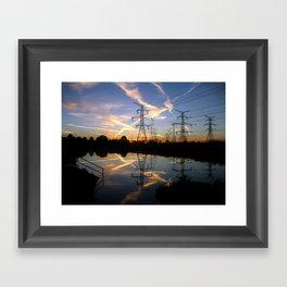 Pond Sunrise Framed Art Print