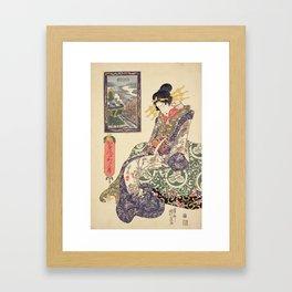 Geisha women Framed Art Print