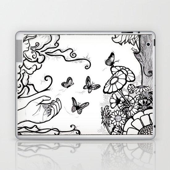 Releasing Butterflies Laptop & iPad Skin