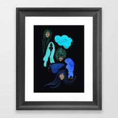 Hair 3 of 3 Framed Art Print