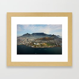 Cape Town aerial view II Framed Art Print