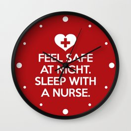 Sleep With A Nurse Funny Quote Wall Clock