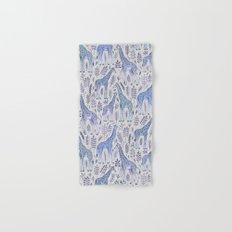 Blue Giraffe Pattern Hand & Bath Towel