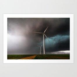 Wind Farm - Renewable Energy on the Texas Plains Art Print