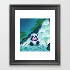 Panda Lilly Framed Art Print