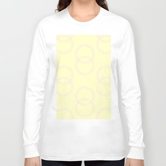 Simply Infinity Link Pink Flamingo on Pale Yellow Long Sleeve T-shirt