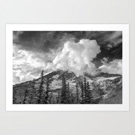 Rainier Obscured Art Print