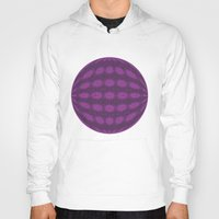 globe Hoodies featuring Purple globe by Avril Harris