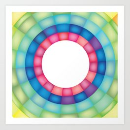 Grid Study - Close Up Art Print