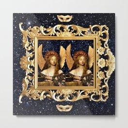 Angel Twins Metal Print
