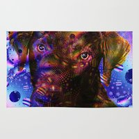 lab Area & Throw Rugs featuring Chocolate Lab by Roger Wedegis