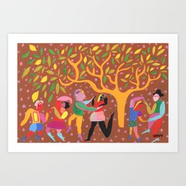 Dance Under Tree Art Print