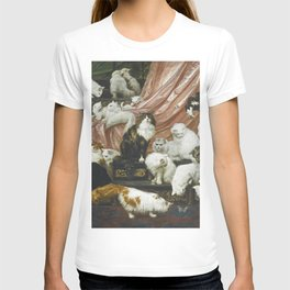 My Wife's Lovers by Carl Kahler 1883 Famous Cat Painting T-shirt