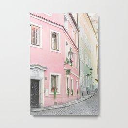 Pink Hotel - Prague, Czech Republic Metal Print