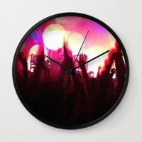 rave Wall Clocks featuring rave by xp4nder