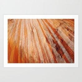 Sandstone Stripes Art Print