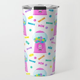 Pink Candy Dispenser – Rainbow Candy Shop Pattern Travel Mug
