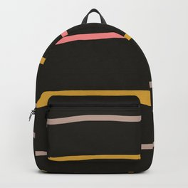 Abstract Retro Lines #2 Backpack