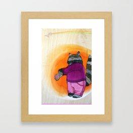 'suicide cat' Framed Art Print