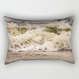 Crashing Ashore Coastal / Seascape / Nature Photograph Rectangular Pillow