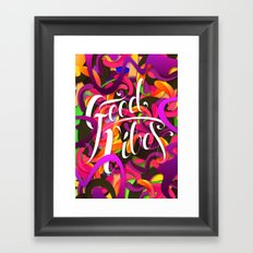 Good Vibes (Feat. Roberlan Borges) Framed Art Print