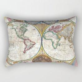 Old World Map print from 1794 Rectangular Pillow