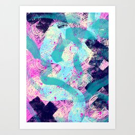 Excited Anxiety Art Print