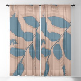 2020 Fall/Winter 03 Peach Sheer Curtain