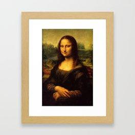 Mona Lisa Painting Framed Art Print