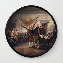 Signing The Constitution Wall Clock