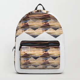 Colorful bright lights at night Backpack