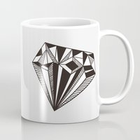 diamond Mugs featuring Diamond by Galitt