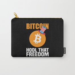 Bitcoin Hodl That Freedom Funny Bitcoin Gift Carry-All Pouch