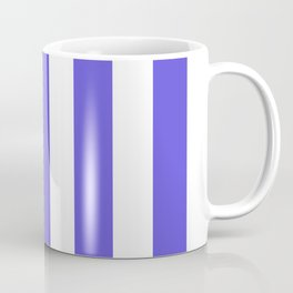 Majorelle blue - solid color - white vertical lines pattern Coffee Mug