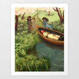 An Unfortunate Lily Maid Art Print